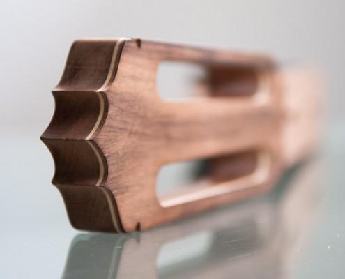 frezowanie drewna - gryf gitary